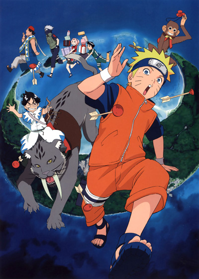 Наруто: Путешествие в Страну Луны / Gekijouban Naruto: Dai Koufun! Mikazukijima no Animal Panic Datte ba yo! [Movie]