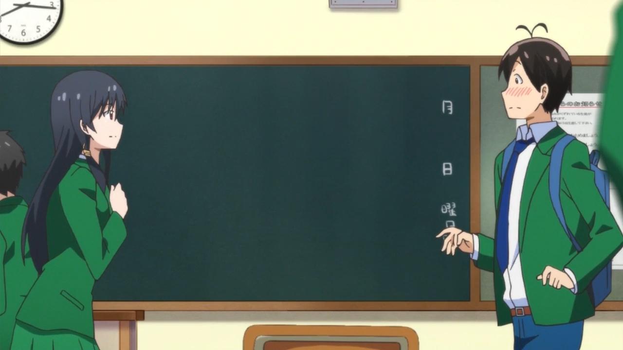 Скриншот *Моя первая гяру / Hajimete no Gal [Сезон 1, Серия 1-10 из 10] 2017*