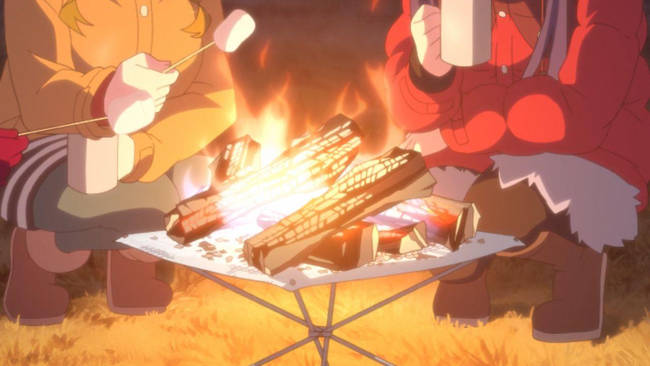 Скриншот *Девчачий кемпинг / Yuru Camp [Сезон 1, Серия 1-12 из 12] 2018*