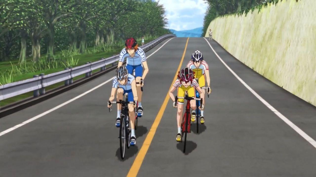 Скриншот *Трусливый Велосипедист: Линия славы / Yowamushi Pedal: Glory Line [Сезон 4, Серия 1-25 из 25] 2018*