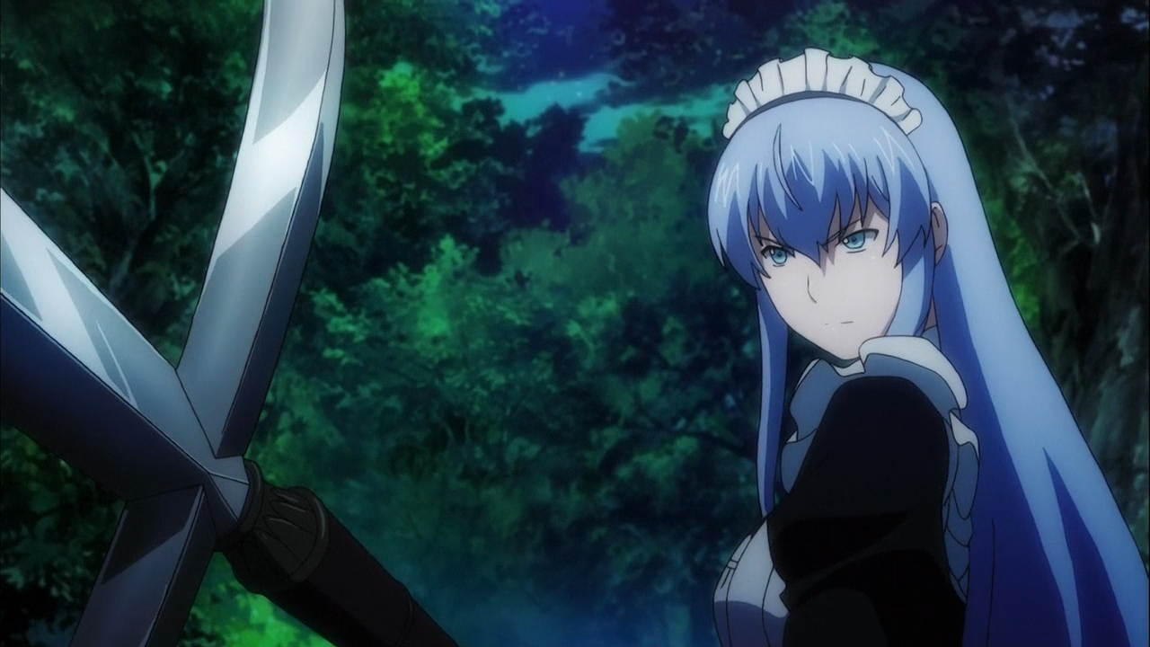 Скриншот *Потерявшийся герой забрал девицу домой / Hagure Yuusha no Estetica [Сезон 1, Серия 1-12 из 12 + 6 SP] 2012*