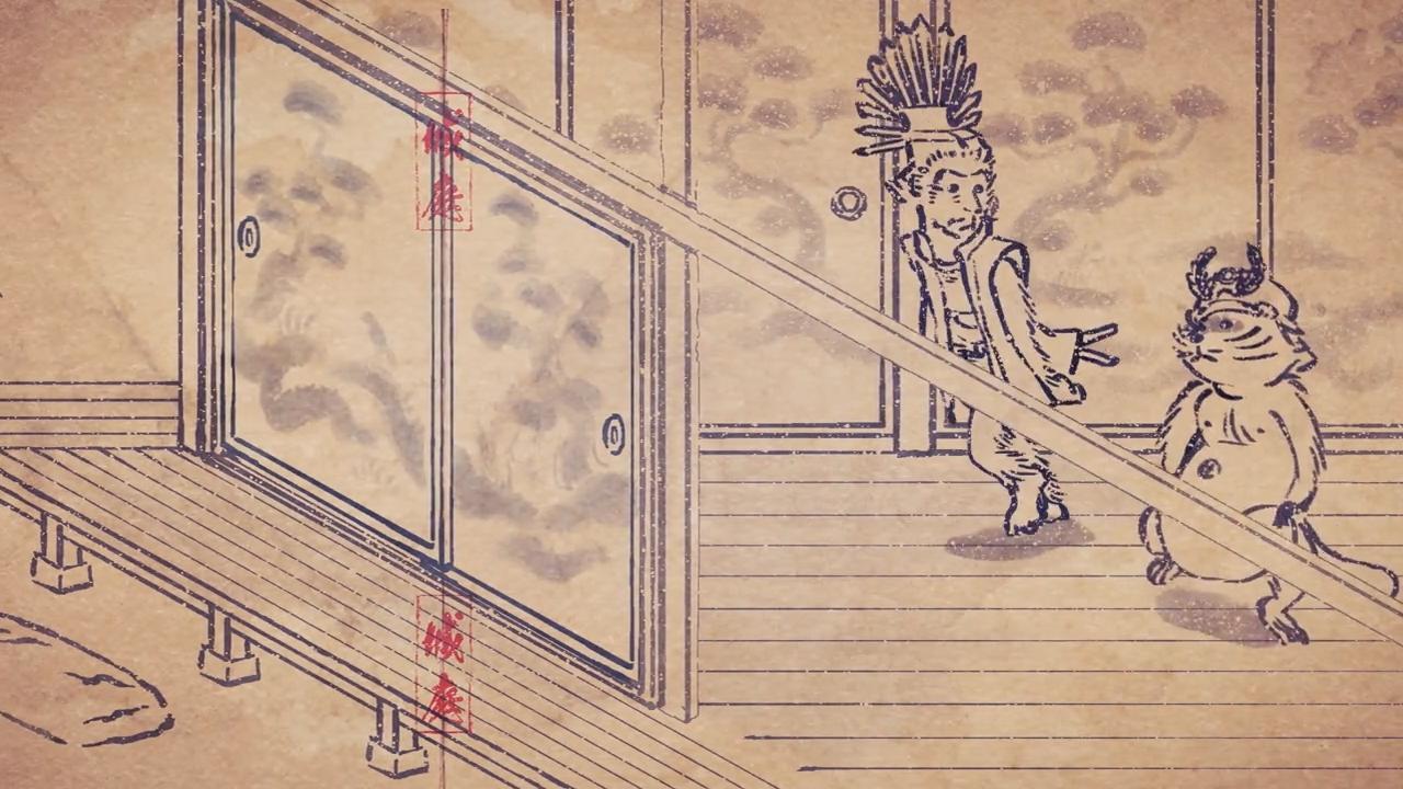 Скриншот *Карикатурные Упыри Сенгоку / Sengoku Choujuu Giga [Сезон 1, Серия 1-26 из 26] 2016*