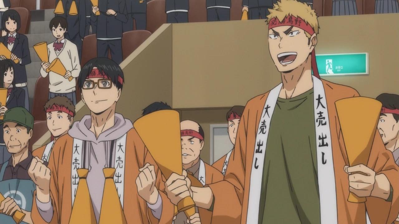 Скриншот *Волейбол!! / Haikyuu!!: Karasuno Koukou VS Shiratorizawa Gakuen Koukou [Сезон 3, Серия 1-10 из 10] 2016*